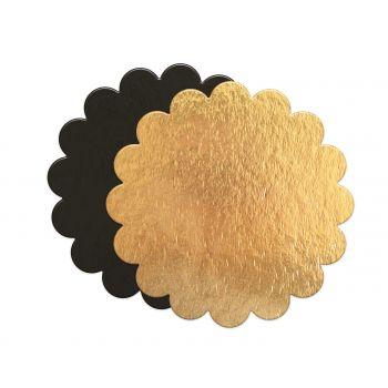 5 Supports à gâteaux fin cannelés or/noir Scrapcooking 24cm