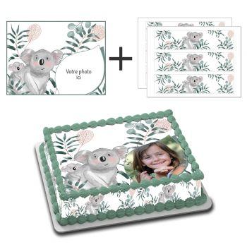 Kit Easycake pour gâteau rectangle personnalisé Koala