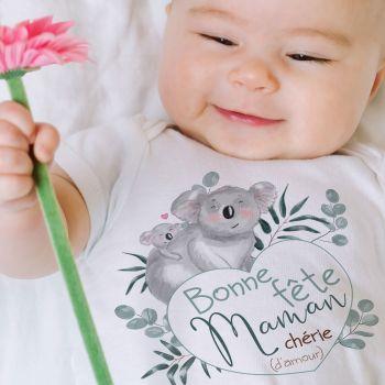 Body bébé Koala bonne fête maman