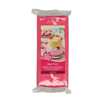 Pâte à sucre Funcakes fuschia 1Kg
