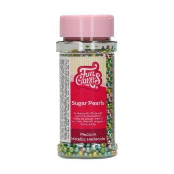 Perles en sucre funcakes Metalliques Arlequin