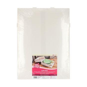 2 Boites à gâteaux blanche 32x32x11.5cm
