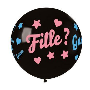 Ballon confettis fille ou garçon Ø80cm