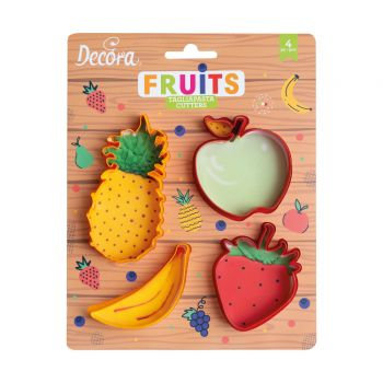 4 Emportes pièce fruits