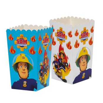 6 boites pop corn Sam le pompier