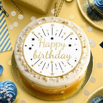 Disque sucre Happy birthday or