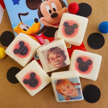 48 Guimize carrés personnalisés photo Mickey rouge