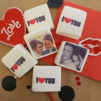 48 Guimize carrés personnalisés photo décor I Love You