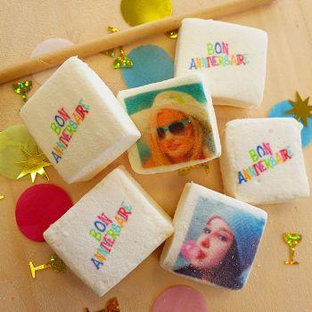 48 Guimize carrés personnalisés photo décor Bon anniversaire
