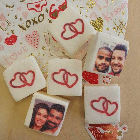 Les bonbons Guimize sont des guimauves personnalisées avec votre photo, idéal pour vos candy bar lors de vos fêtes anniversaire, mariage...