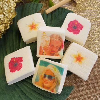 48 Guimize carrés personnalisés photo décor Fleurs des îles