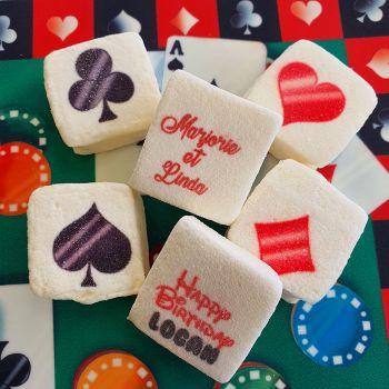 48 Guimize carrés personnalisés texte décor Casino