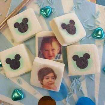 48 Guimize carrés personnalisés photo décor Mickey Baby