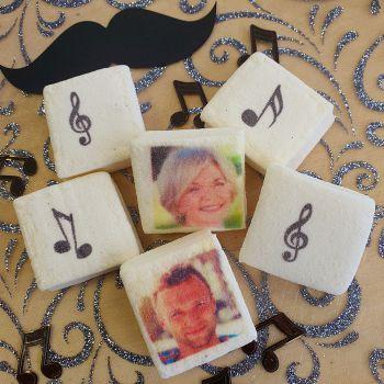 48 Guimize carrés personnalisés photo décor Notes de musique