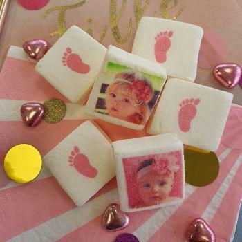 48 Guimize carrés personnalisés photo décor Pieds rose
