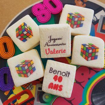 48 Guimize carrés personnalisés texte décor Rubicks