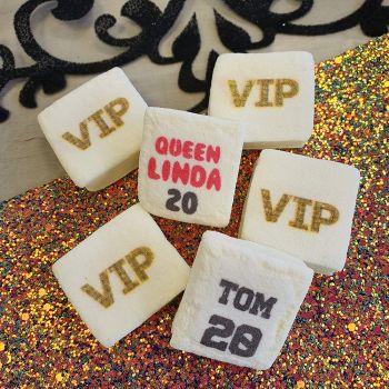 48 Guimize carrés personnalisés texte décor VIP