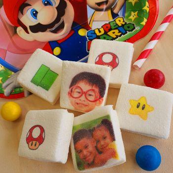 48 Guimize carrés personnalisés photo décor Mario