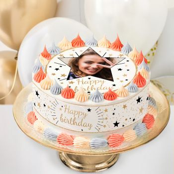 Kit Easycake pour gâteau personnalisé Happy birthday or