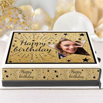 Kit Easycake pour gâteau personnalisé Happy birthday noir