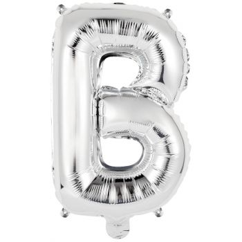 Mini Ballon alu lettre B argent
