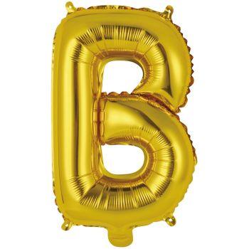 Mini Ballon alu lettre B or