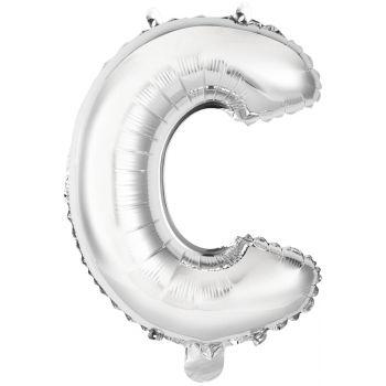 Mini Ballon alu lettre C argent