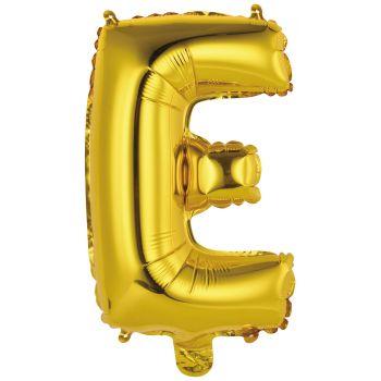 Mini Ballon alu lettre E or