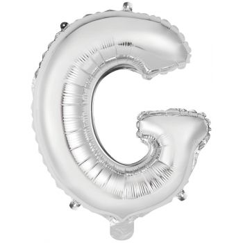 Mini Ballon alu lettre G argent