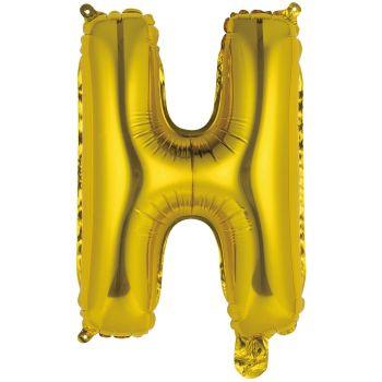 Mini Ballon alu lettre H or