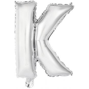 Mini Ballon alu lettre K argent