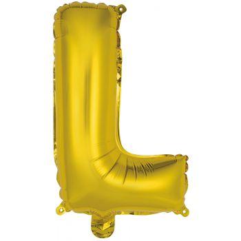 Mini Ballon alu lettre L or