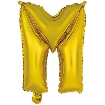 Mini Ballon alu lettre M or