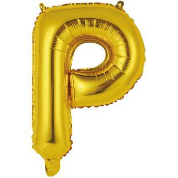 Mini Ballon alu lettre P or