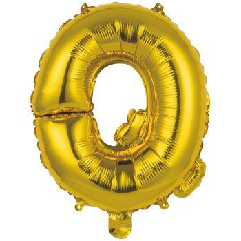 Mini Ballon alu lettre Q or