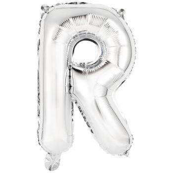Mini Ballon alu lettre R argent
