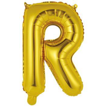 Mini Ballon alu lettre R or