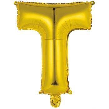 Mini Ballon alu lettre T or