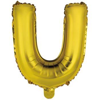 Mini Ballon alu lettre U or