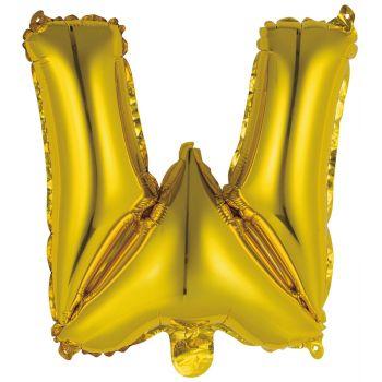 Mini Ballon alu lettre W or