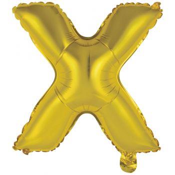 Mini Ballon alu lettre X or