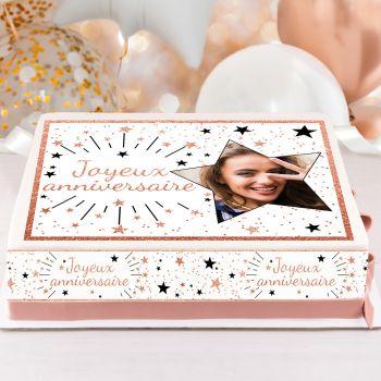 Kit Easycake pour gâteau personnalisé Joyeux Anniversaire rose gold
