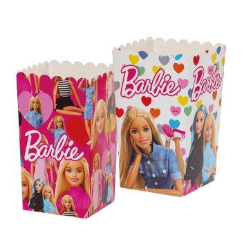 6 boites pop corn Barbie