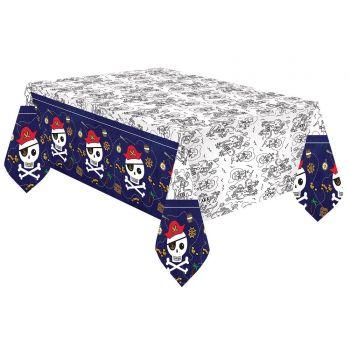 Nappe en papier Pirate rouge
