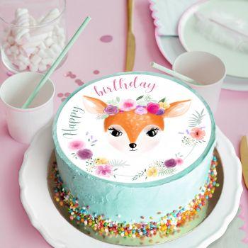 Disque sucre Ma biche Happy birthday