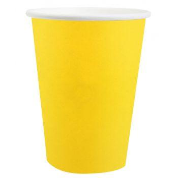 10 Gobelets compostables rainbow jaune