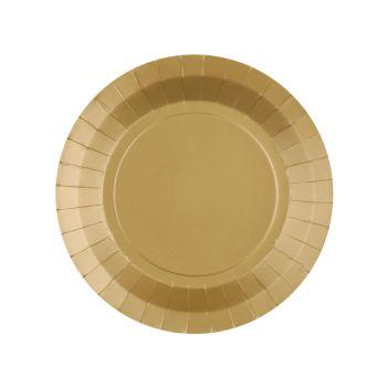 10 petites assiettes rondes compostables rainbow or