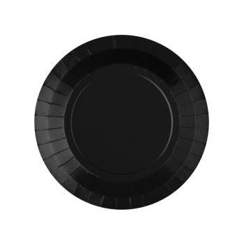 10 petites assiettes rondes compostables rainbow noir
