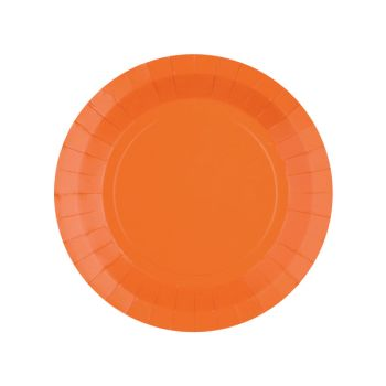 10 petites assiettes rondes compostables rainbow orange