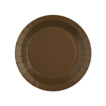 10 petites assiettes rondes compostables rainbow chocolat